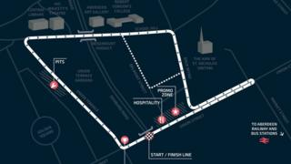 Map of Tour Series event in Aberdeen