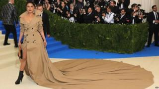 The trench coat dress with an exaggerated train, has captured India's imagination