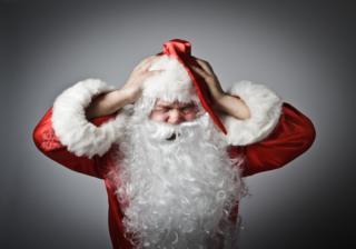 Papa Noel se queja del ruido