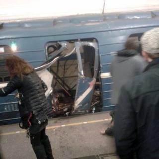 El vagón donde ocurrió la explosión