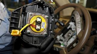 A recalled Takata airbag