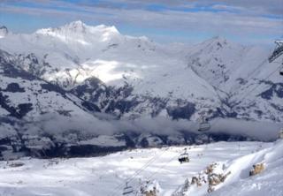 Alpes franceses cerca de Mont Blanc