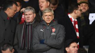 Arsene Wenger in the stands during The Emirates FA Cup Third Round match between Nottingham Forest and Arsenal