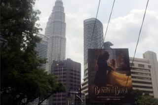 Beauty and the Beast poster in Kuala Lumpur, Singapore
