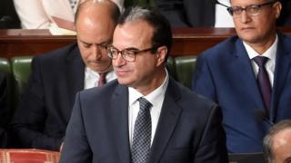 Le ministre tunisien de la santé, Slim Chaker, lors d'une session parlementaire
