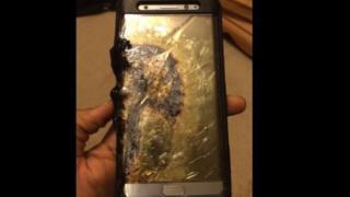 Bataryası tutuşmuş bir Samsung Galaxy Note 7