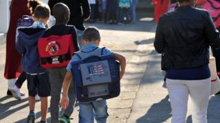 Школьники во Франции