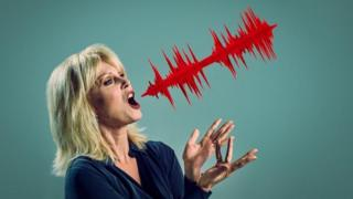 Joanna Lumley with her iconic voice captured in a 3D sculpture
