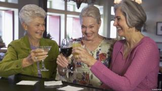 Old women drinking