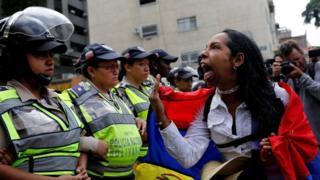 Venezuela women's march
