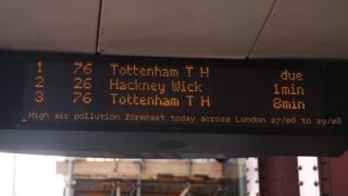Pollution alerts