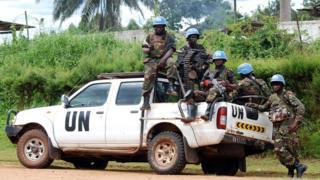 UN ina wanajeshi kutoka mataifa mbalimbali wanaolinda amani Dr Congo