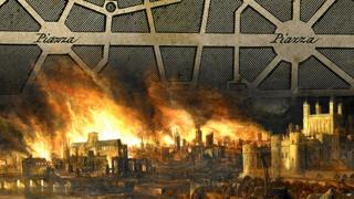 Wren's plan for London 1666/Great Fire of London 1666