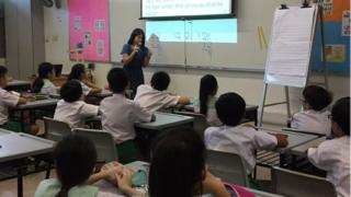 Singapore primary maths class
