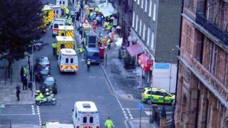 The aftermath of the July 2005 attack near Tavistock Square