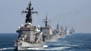 日本防衛預算創新高,應對朝鮮和中國。(資料圖片)