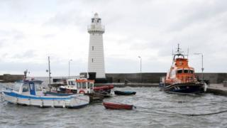 A lifeboat at Donaghadee harbour