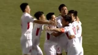 Tuyển Việt Nam với 5/11 người ra sân từ đầu ở độ tuổi U23 đã có khởi đầu hứng khởi.