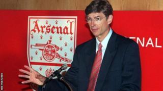 Arsene Wenger yinjiye muri Arsenal mu 1996 avuye Nagoya Grampus Eight mu Buyapani