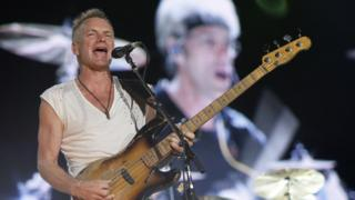 Sting, en concierto con The Police