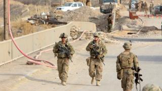 Musul'da Amerikan askerleri