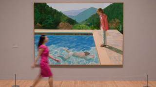 大卫·霍克尼的游泳池系列作品