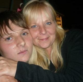 Daryl Hargrave with his mother Nicky