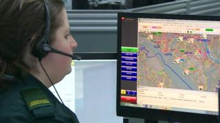 South Central Ambulance control room