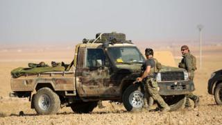 Western special forces, supporting the US-backed Kurdish-Arab forces, deploy on the frontline, one kilometre from the Syrian town of Ain Issa, some 50 kilometres (30 miles) north of Raqa, on November 6, 2016 as they launched an offensive on the Islamic State group's de facto Syrian capital