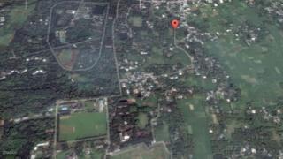 কুমিল্লার গন্ধমতি এলাকার স্যাটেলাইট চিত্র।