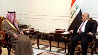 رئيس الوزراء العراقي ووزير الخارجية السعودي
