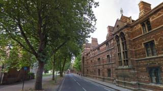 Oxford's Keble College in Parks Road