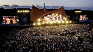 Roskilde music festival in Denmark