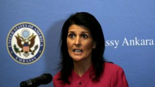 سفيرة واشنطن لدى الأمم المتحدة نيكي هايلي