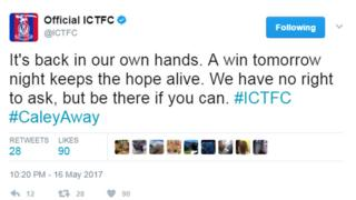 Inverness Caledonian Thistle FC tweet
