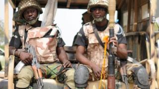 Nigerian soldiers in Borno state