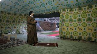 Шатер Каддафи в Париже