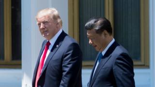 ドナルド・トランプ米大統領と習近平中国国家主席