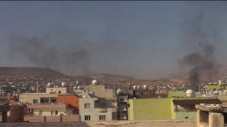 Smoke rising over Cizre (19 December 2015)