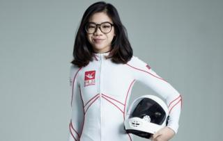 Picture of Singaporean indoor skydiver Kyra Poh