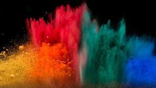 explosión de colores