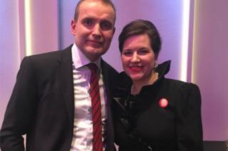 Icelandic President Gudni Johannesson and First Lady Eliza Reid