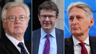 David Davis, Greg Clark and Philip Hammond