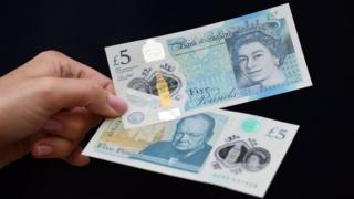 Polymer £5 note