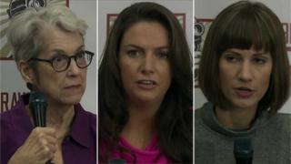 (L-R) Jessica Leeds, Samantha Holvey, and Rachel Crook