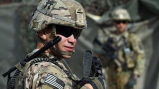 Image shows a US Army soldier in Afghanistan