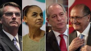 Bolsonaro, Marina, Ciro e Alckmin (Fotos Senado, Reuters, BBC e divulgação