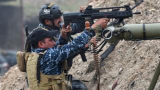 قوات حكومية عراقية في معركة الموصل