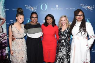 The cast and crew of A Wrinkle in Time