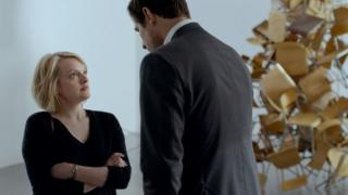 Elisabeth Moss and Claes Bang star in The Square